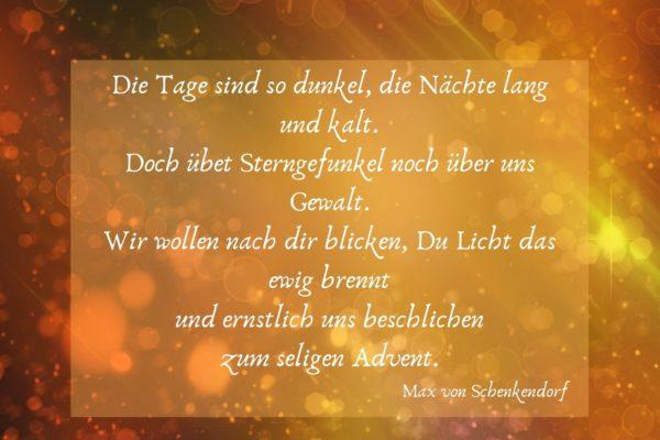 Sprüche und Gedichte für die Advents- und Vorweihnachtszeit