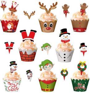 Cupcake topper und Wrapper Set 8 Motive