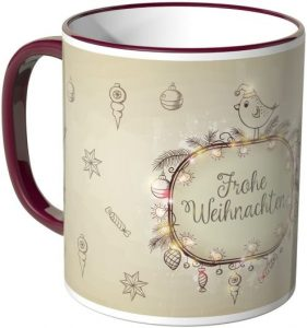 Tasse Frohe Weihnachten - schönes Mitbringsel im Advent