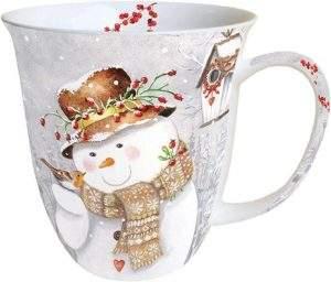 Tasse Schneemann - schönes Mitbringsel im Advent