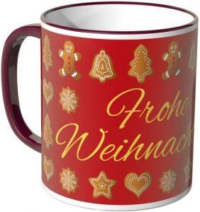 Tasse mit Lebkuchenmotiv - Frohe Weihnachten