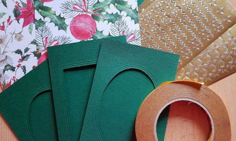 Weihnachtskarten basteln -