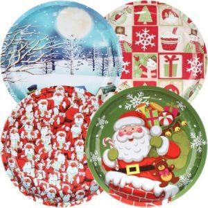 Weihnachtsteller aus Melamin 4 verschiedene Motive