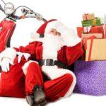erschöpfter Nikolaus - Tipps gegen Weihnachtsstress - Beitragsbild