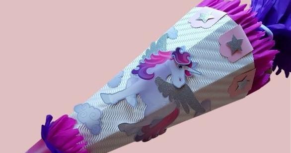 Schultüten Bastelset für Mädchen – Funktioniert das auch mit 2 linken Händen?