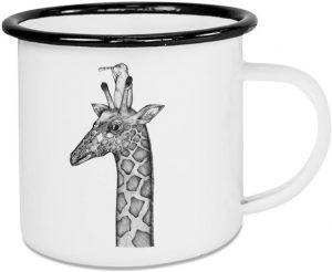 Emaille-Tasse Giraffe