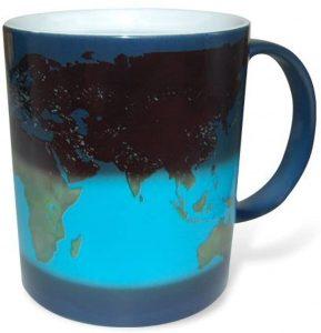 Farbwechseltasse Weltkarte
