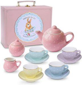 Kinder-Teeservice pastell polka dots