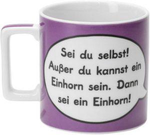Sheepworld-Tasse - Sei du selbst! Außer du kannst ein Einhorn sein. Dann sei ein Einhorn!