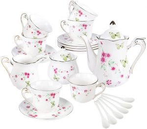 Tee-Service Schmetterlinge