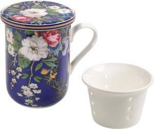Tee-Tasse mit Blumen-Motiv