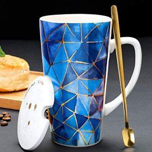 Tee-Tasse blau gold