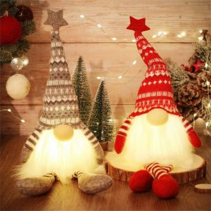 2er Set LED Weihnachtswichtel 49cm