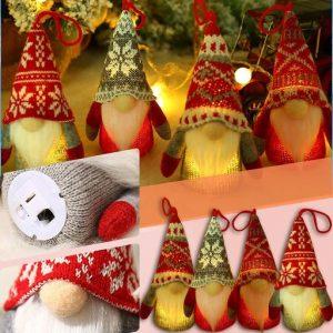 4 LEDWeihnachtswichtel zum Hängen