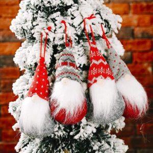 4 Weihnachtswichtel zum Hängen