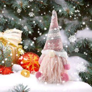 Weihnachtswichtel rosa